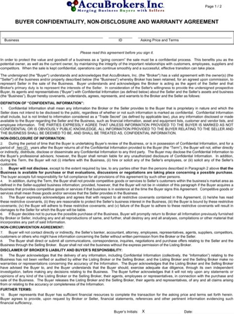 vendor confidentiality agreement template vendor confidentiality agreement templates for