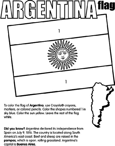 Argentina Crayola Com Au Argentina Coloring Pages