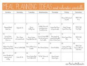 food calendar template meal plan for two weeks and only grocery shop once new