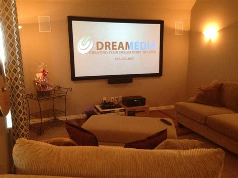 frisco tx theater room featuring   fixed projector