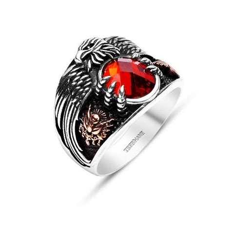 red stone rings shop for red stone rings on polyvore silver ring the last emperor red stone