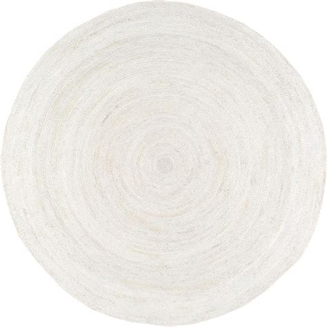 8 ft jute rug nuloom rigo jute white 8 ft x 8 ft area rug