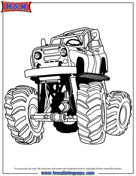monster truck cartoon free coloring pages of m truck