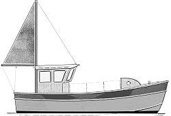 small commercial fishing boat plans 24 noyo trawler commercial fishing cargo boat boatdesign