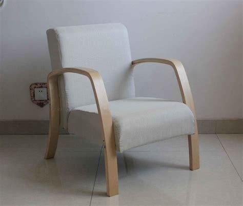 chaise rembourrée fauteuil chaise longue accoudoir tissu multicolore bois