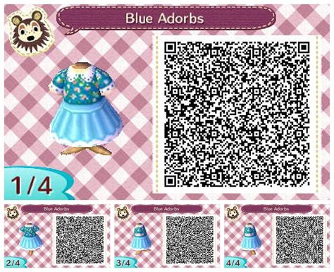 design clothes animal crossing animal crossing new leaf blue adorbs dress qr code acnl