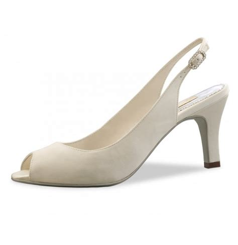 comfortable bridal heels classic satin ivory pump wedding comfort shoes ivory