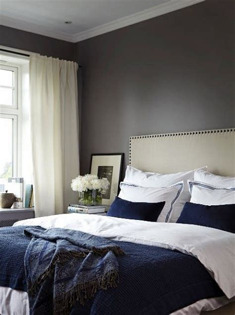 dark blue curtains bedroom dark blue and white bed and dark walls white curtains