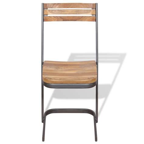 Teak Wood Dining Chairs Vidaxl Dining Chairs 4 Pcs Solid Teak Wood Vidaxl Co Uk