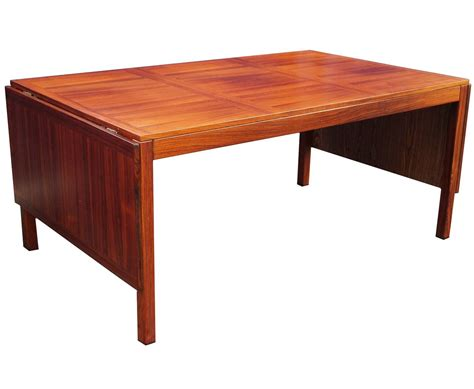 Modern Drop Leaf Dining Table Winding Mid Century Modern Rosewood Drop Leaf