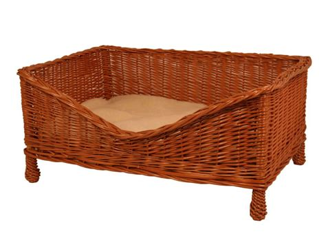 Luxury Wicker Dog Bed With Cushion By Gadsby Muddy Paws