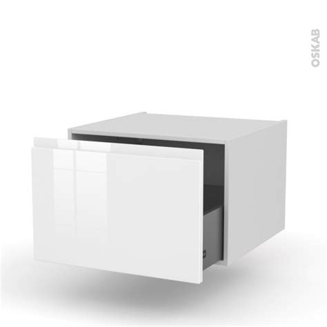 meuble de cuisine blanc brillant meuble de cuisine bas suspendu ipoma blanc brillant 1