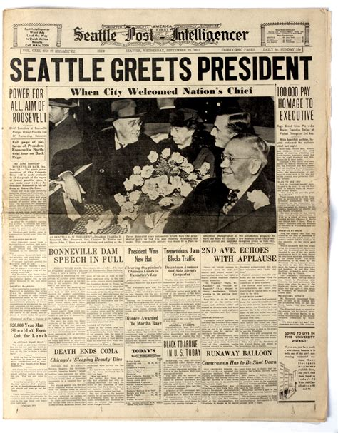 local news historic front pages from the seattle post