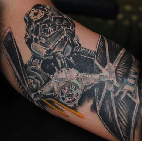 tie fighter tattoo tie fighter by jason a leigh tattoonow