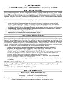 Resume Objective Exles Health Administration Healthcare Resume Template Health Symptoms And Cure