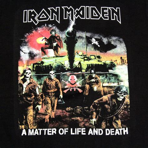 iron maiden a matter of and iron maiden rock band t shirt a matter of and
