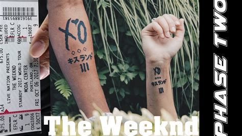 the weeknd tattoos vlog we got xo tattoos the weeknd s portland concert