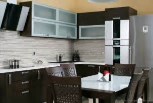 Kitchen Backsplash Ideas For Dark Cabinets pictures of kitchens modern dark wood kitchens kitchen 2