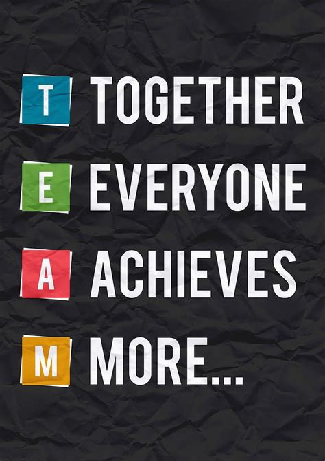 Art Startup together everyone achieves more inspirational quotes