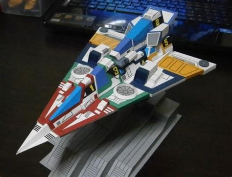 Papercraft Spaceships - papermau gotcha spartans spaceship paper model by
