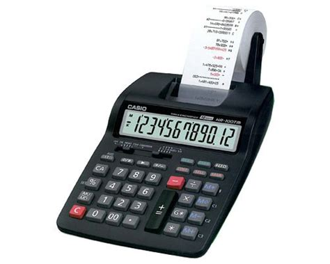 Casio Hr 100tm Printing Calculator Hitam Kalkulator Casio Hr 100 Tm Cetak Perhitungan Anda