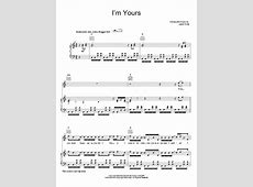 I'm Yours | Sheet Music Direct I M Yours Chords