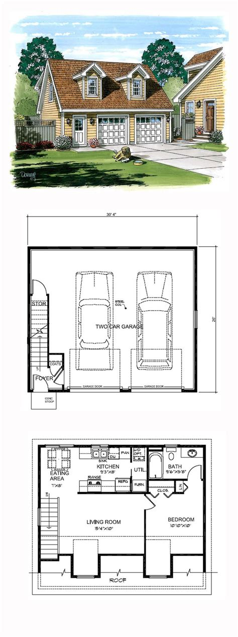 garage apartment plans 1 bedroom 158 best images about small homes on pinterest house