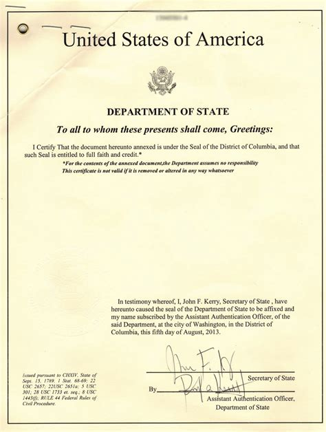 Us Department Of State Authentications Cover Letter us clearance clearance info