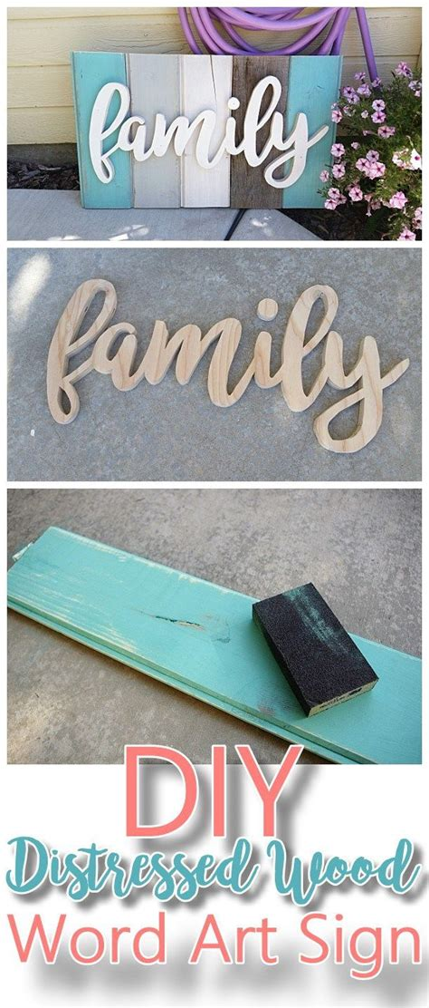 Make It Yourself Home Decor by New Old Distressed Barn Wood Word Art Indoor Outdoor
