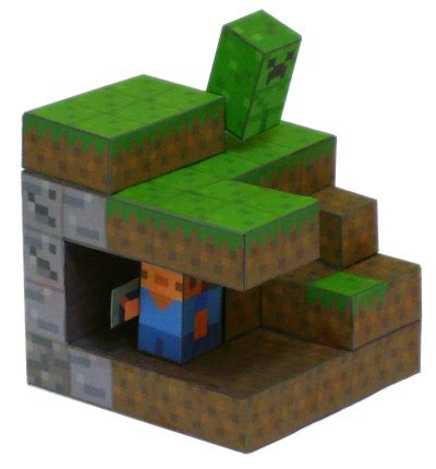 Tubbypaws Papercraft - minecraft diorama free paper papermodeler