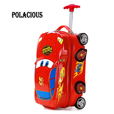 Tas Travel Trolly Cars Drifting Town kopen wholesale shell koffer uit china shell koffer groothandel aliexpress