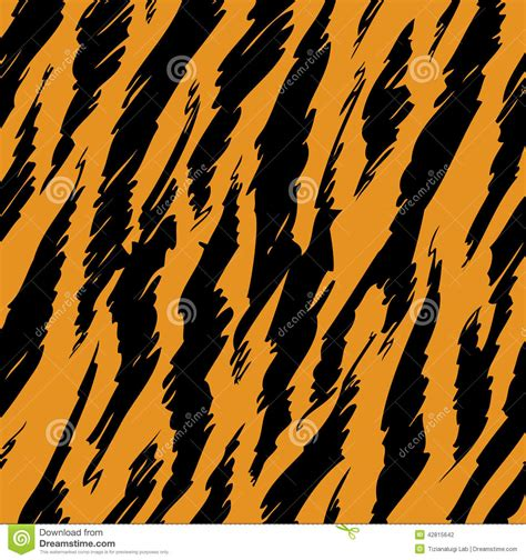 tiger pattern seamless vector tiger stripes skin stock vector illustration of