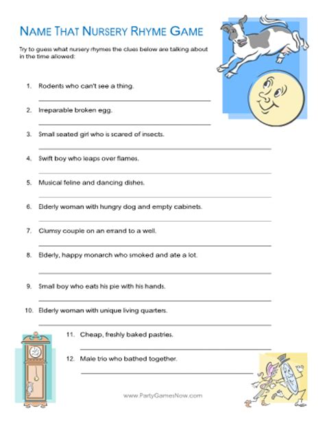 Name That Baby Shower Answers by Baby Shower Nursery Rhyme Answers Wedding