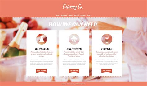 Catering Website Template 46076 By Wt Website Templates Catering Website Templates