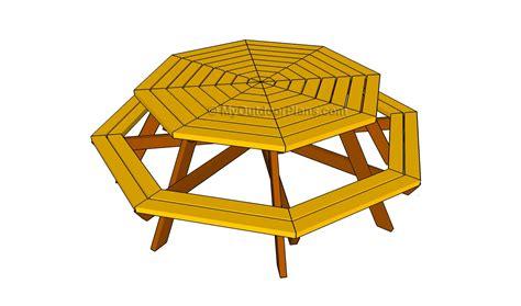 octagon picnic table plans picnic table plans myoutdoorplans free