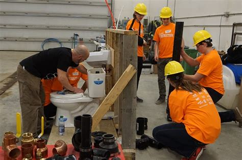 Field Plumbing Moose Jaw by Students Try Trades At Think Construction 2017