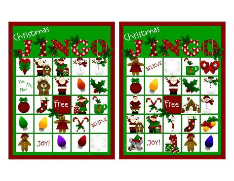 printable christmas bingo game cards 7 best images of free printable santa bingo cards free