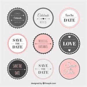 sticker template vintage wedding sticker collection vector free