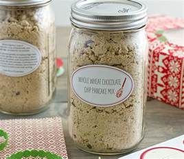 Jar Gifts Recipes - whole wheat chocolate chip pancake mix 99 more diy food