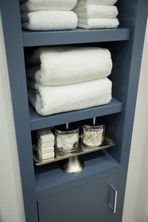 linen shelves bathroom pictures of the hgtv smart home 2015 master bathroom