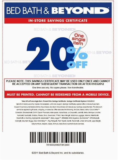 bed bath beyond discount in store printable coupons discounts and deals printable