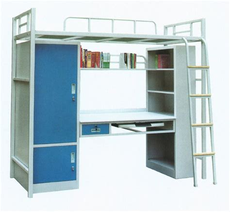 New Design School Use Metal Bunk Bed With Desk And Used Metal Bunk Beds