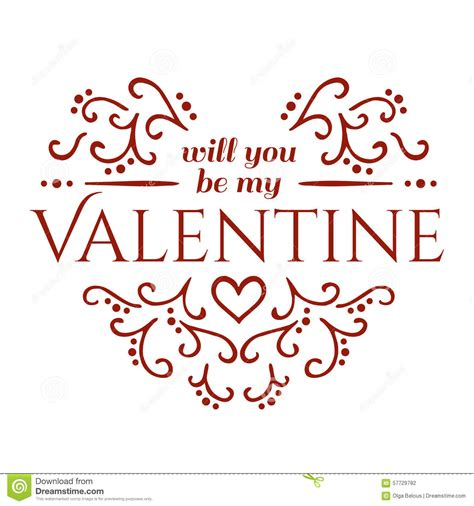 Where Will You Be On Valentines Day by Vector Happy S Day Vintage Card Will You Be My