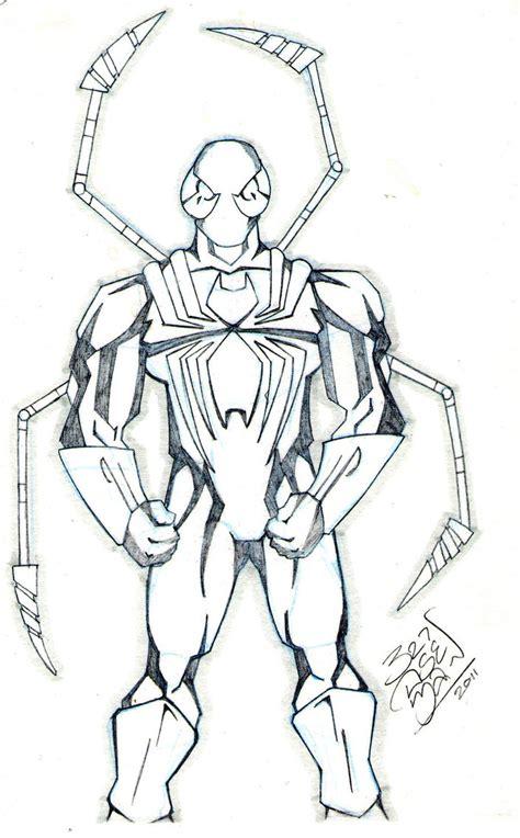 iron spider man sketch by lloydbridgemanink on deviantart
