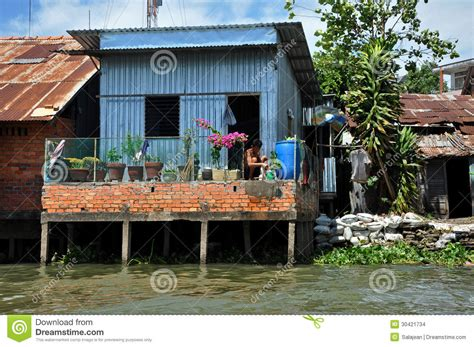 Piling House Plans by Shack Home In Can Tho Mekong Delta Vietnam Editorial