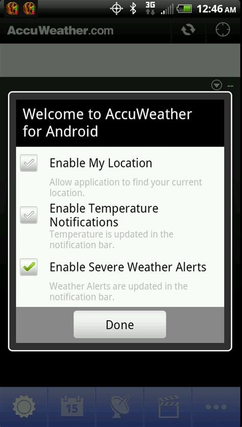 accuweather app for android accuweather app gets severe weather push notifications talkandroid