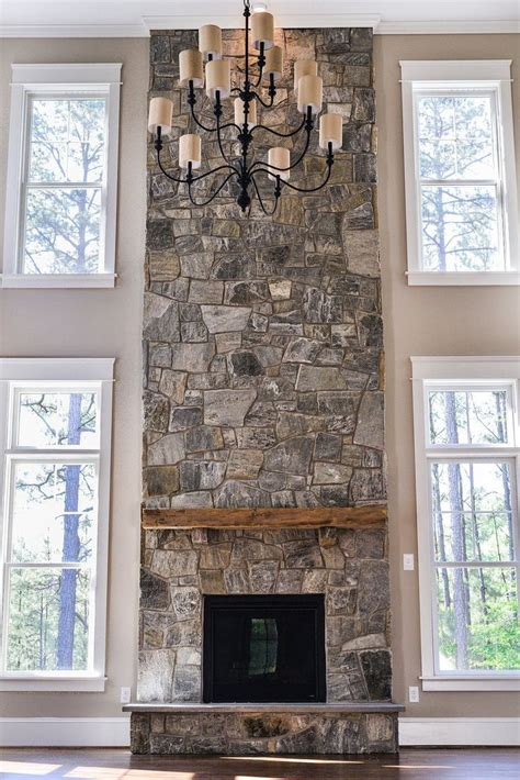 Home Design Story Rustic Stove This Mantel Two Story Fireplace Great Pin For