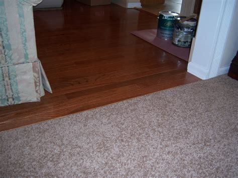simple hardwood to carpet transition dahlia s home