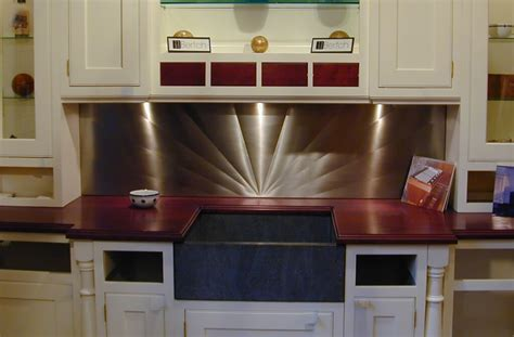 stainless kitchen backsplash stainless steel backsplashes brooks custom