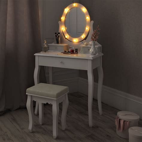 Small Vanity Chair Mounted Triptych Shelves Buy